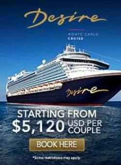 MONTE CARLO CRUISE – SEPTEMBER 21-28, 2019